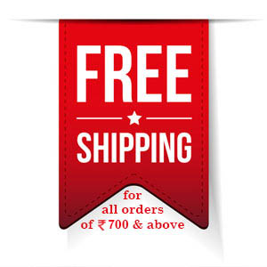Free shipping for orders above Rs. 500