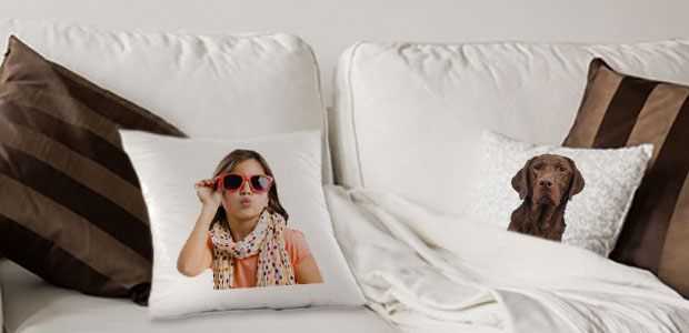 Personalized cushions and pillows with photo