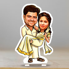 Caricature Happily Married in Saree
