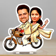 Caricature Bike in Saree