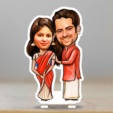 Caricature Standing Couple