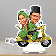 Caricature muslim couple