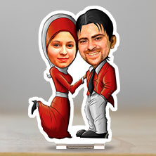 Caricature Muslim Couple 002