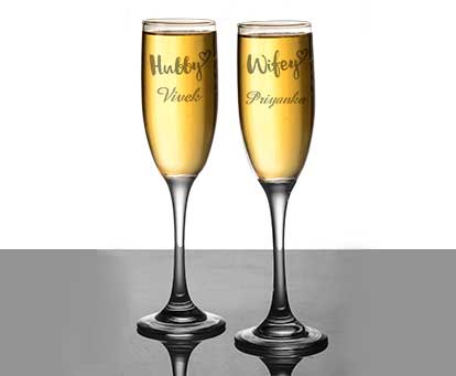 Personalised Champaign Glasses