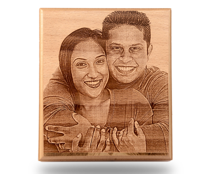 10x12 inches Engraved Wooden Plaque