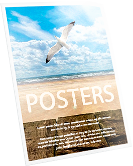 Printing advertising posters