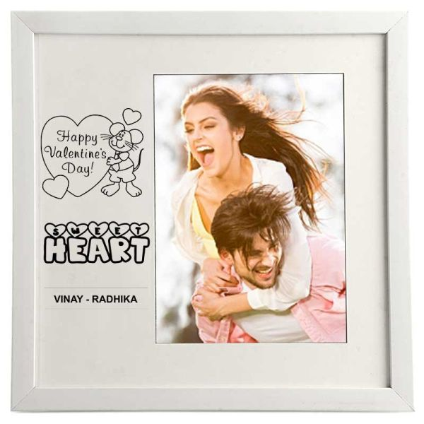 Photo Frame Sweetheart White