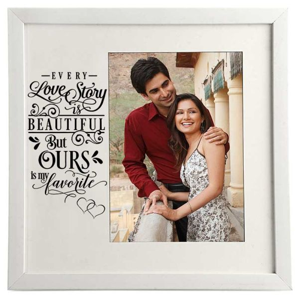 Photo Frame Love Story White