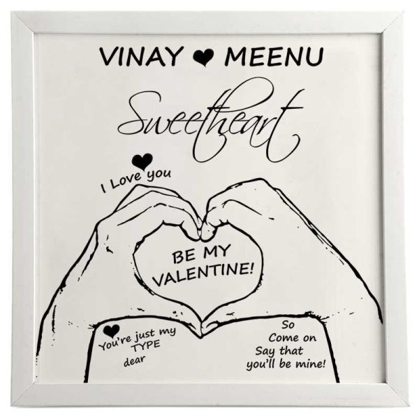 Photo Frame Be My Valentine White