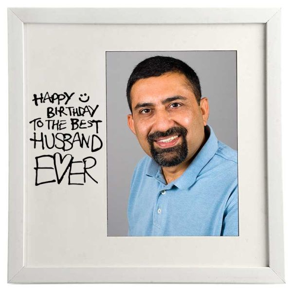Photo Frame Best Husband White