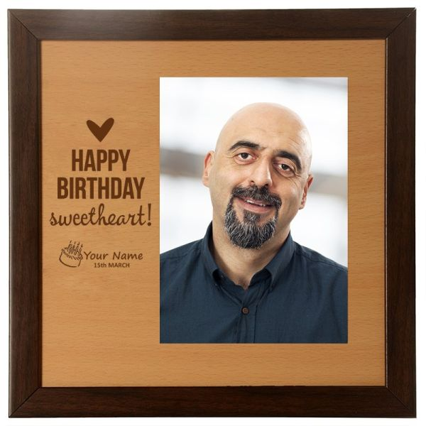 Photo Frame Happy Birthday Sweetheart