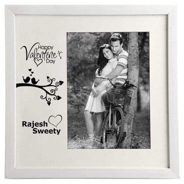 Photo Frame Valentines Day White